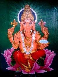 Ganesha Painting at a Temple in Bhadrachalam.jpg