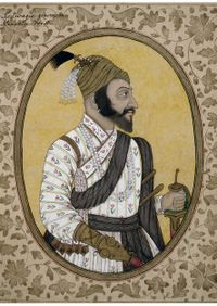 Shivaji's portrait (1680s) housed in the British Museum